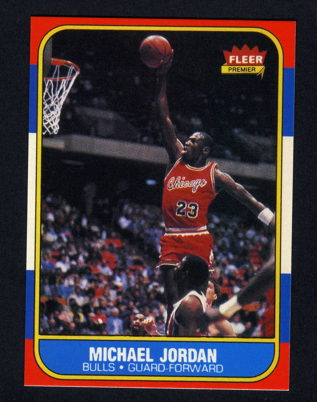 198687 Fleer Michael Jordan Rookie Card Sports Heroes