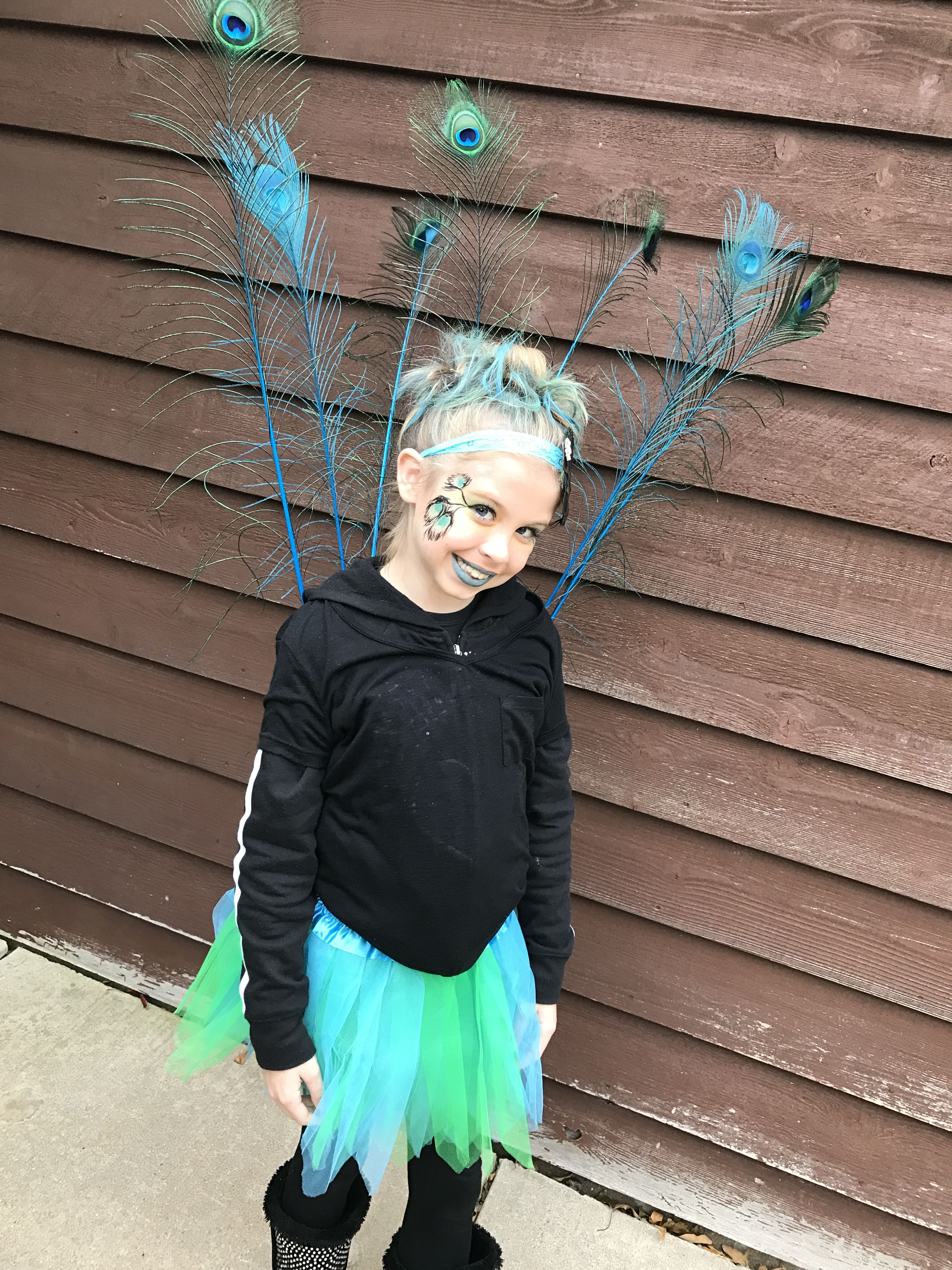Little girls peacock costume halloween (With images