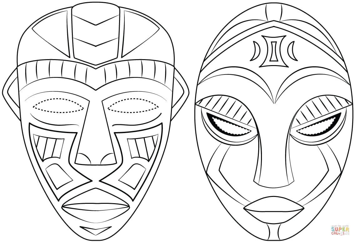 African Masks Super Coloring African Art Projects African Tattoo African Masks