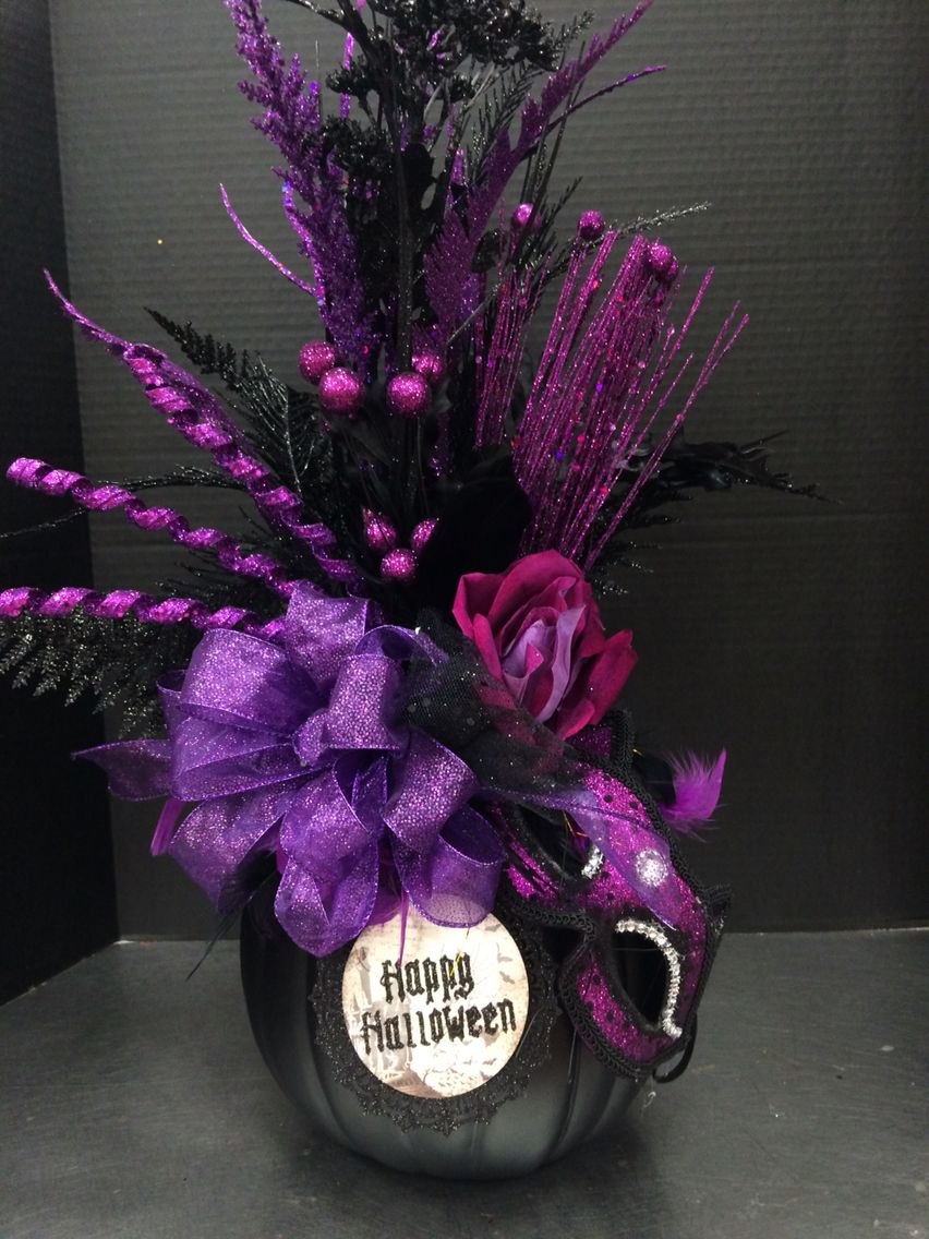 Purple pumpkin 2016 by Andrea Michaels Custom Floral Pinterest - michaels halloween decorations