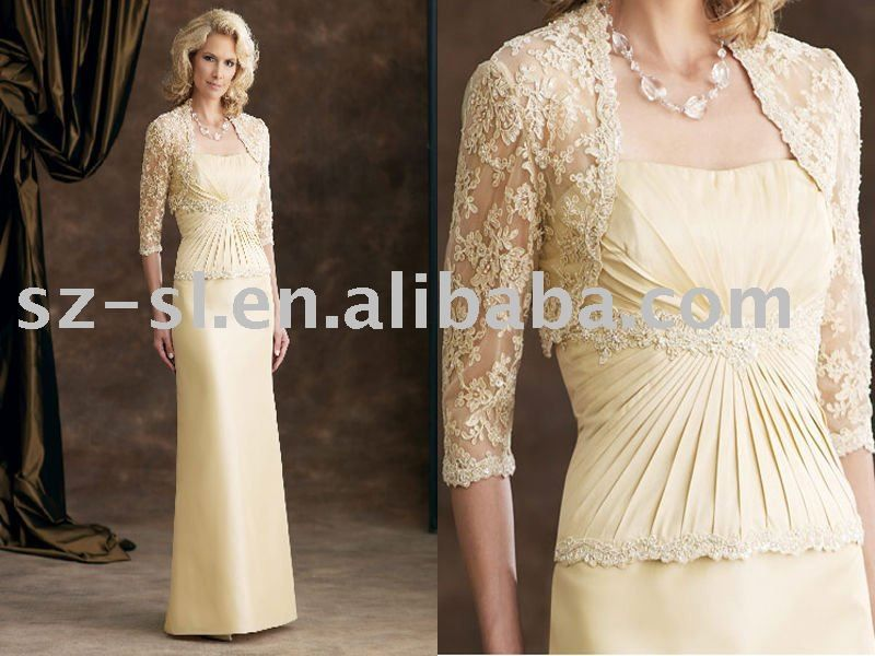 Mother of the bride lace long dress