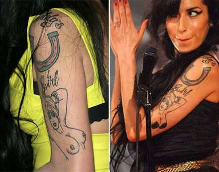 Amy winehouse arm tattoos topless girl with bikini at the grammy amy winehouse arm tattoos topless girl with bikini at the grammy awards urmus Image collections