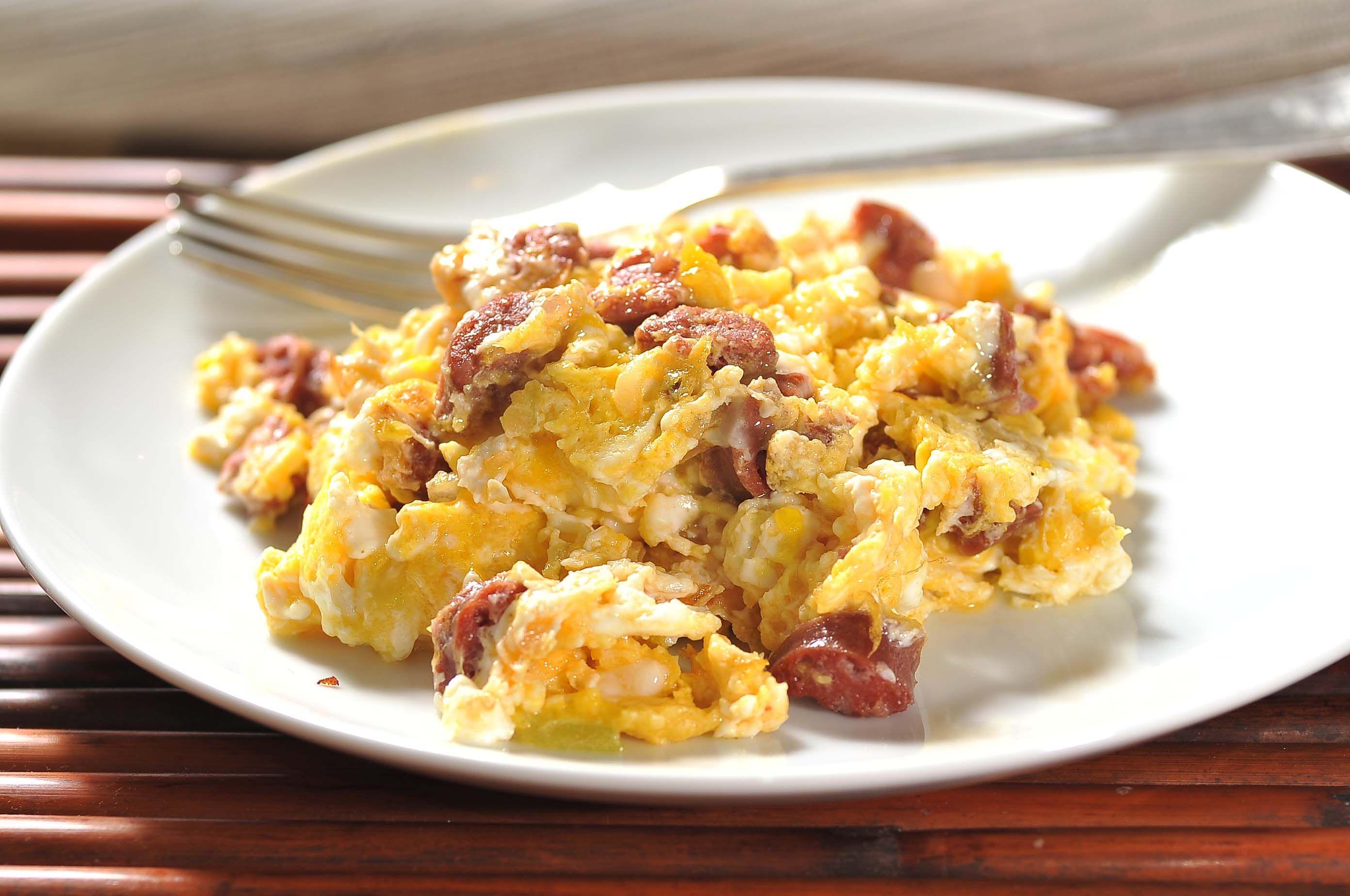 Huevos con chorizo. Cocina y Comparte  © Fotógrafo: Cortesía Alurochi