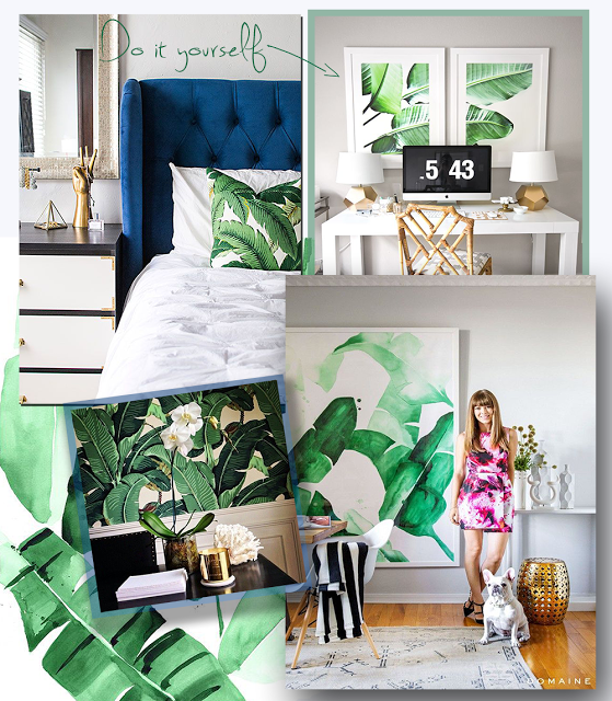 Design Tropical Banana Leaf Trend + DIY Wall Art | NATURE WHISPER  sc 1 st  Pinterest : wall art leaves - www.pureclipart.com