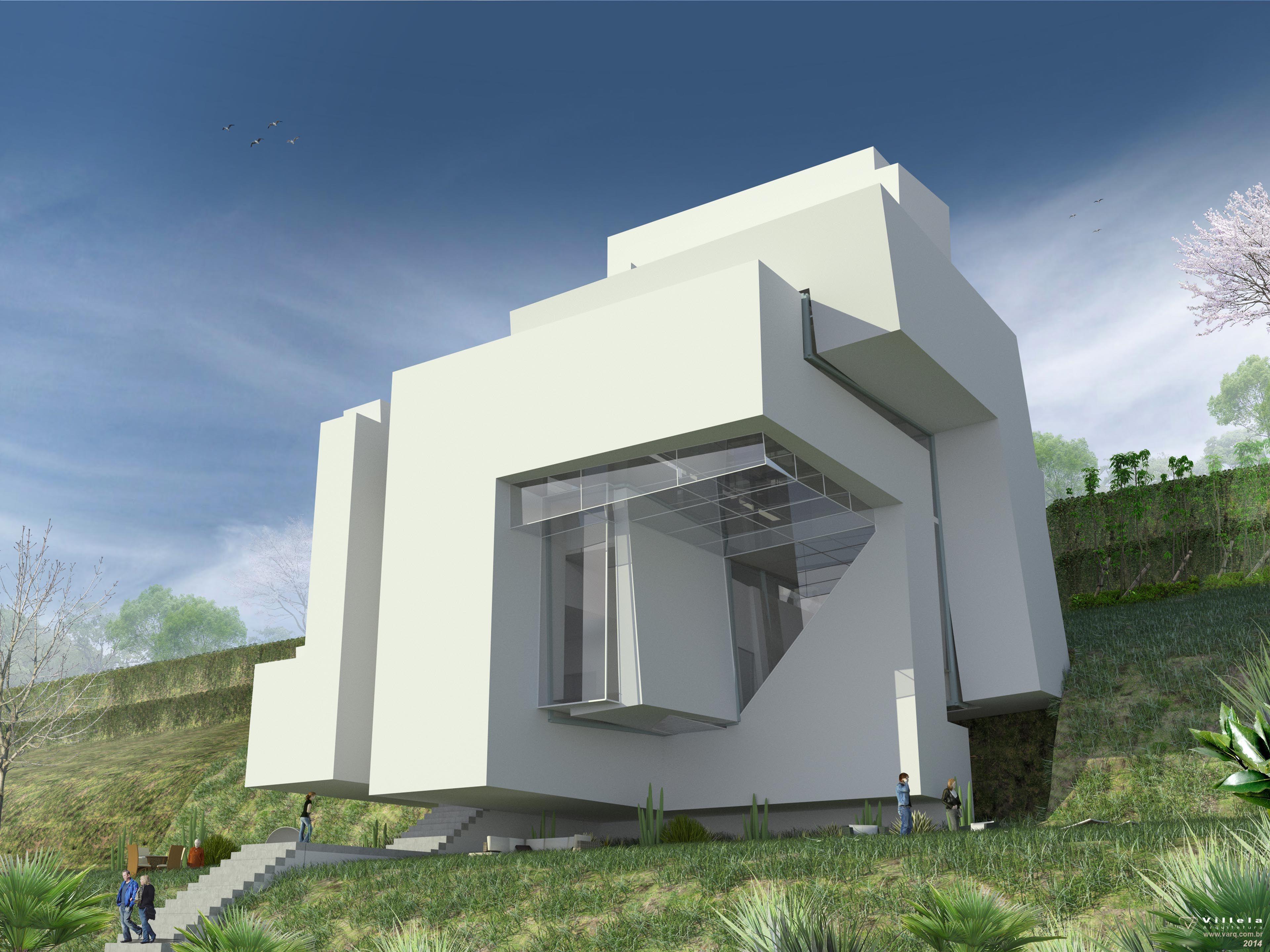 #375477 House Peter Eisenman. sempre quis fazer o 3D fiel desta casa  3839x2879 píxeis em Criar Casas 3d