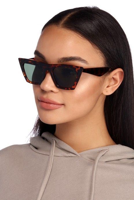 27de2fd89f Tortoise Flat Top Cat Eye Sunglasses