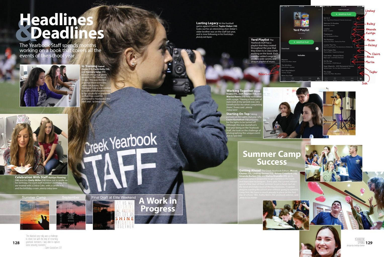 50 Creative Yearbook Layouts for K - 12 | Shutterfly  |Academic Spreads For Yearbook Ideas