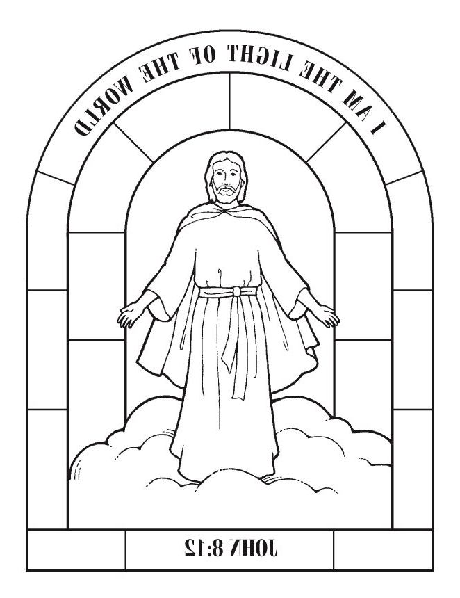 Coolest jesus is the light of the world coloring page for Jesus is the light of the world coloring page
