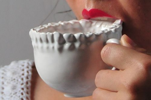 The Disconcerting 3D Printed Teeth Tea Cup.