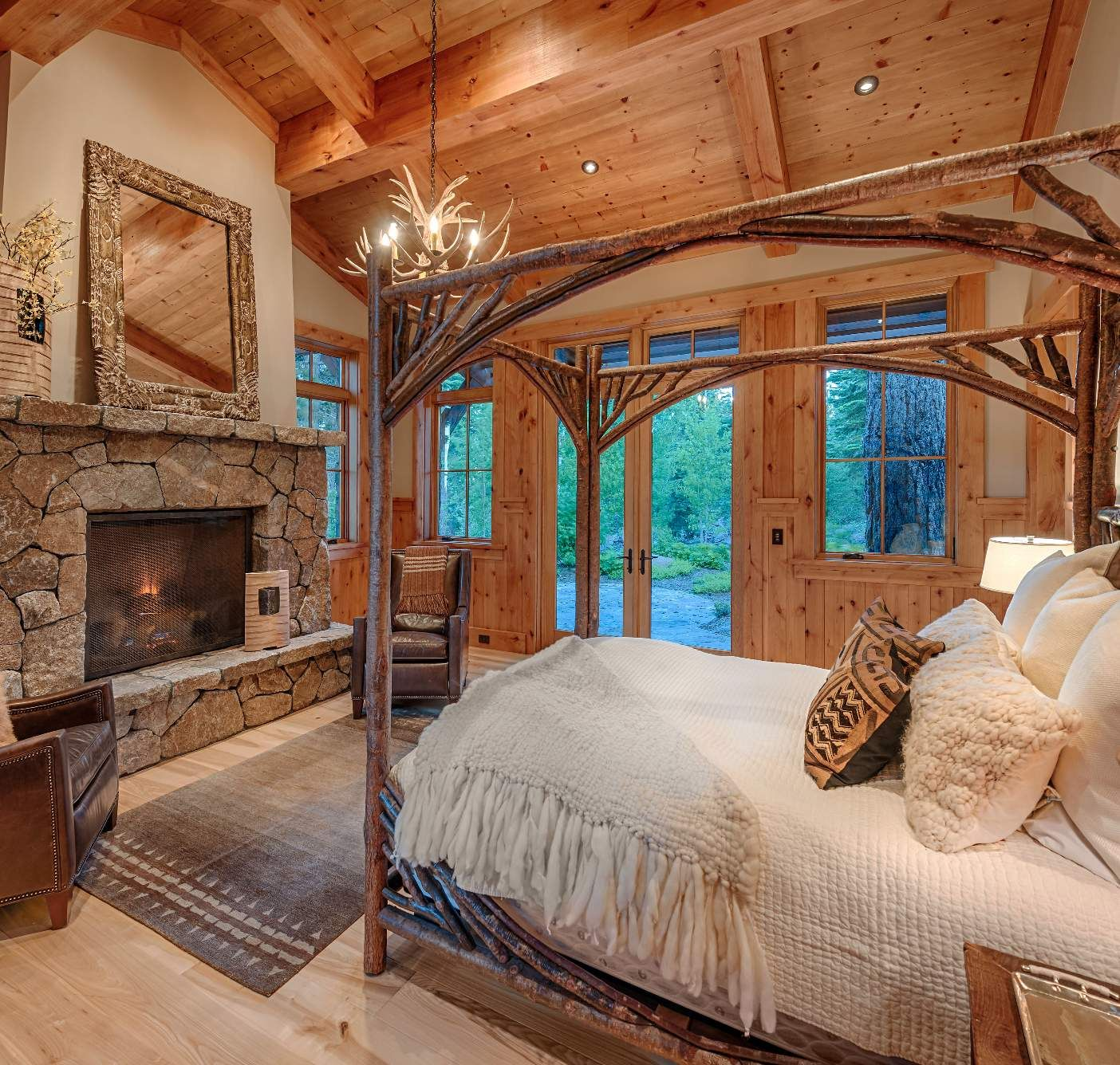 19 Log Cabin Home Décor Ideas: Martis Camp Lot No. 19 - Style Estate -