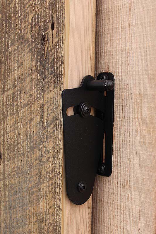 Barn door privacy lock from reclaimed lumber products - Locks for pocket doors in bathrooms ...