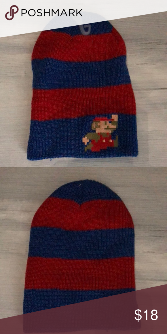 Nintendo 8Bit Mario Logo Knit Show how classic you are in