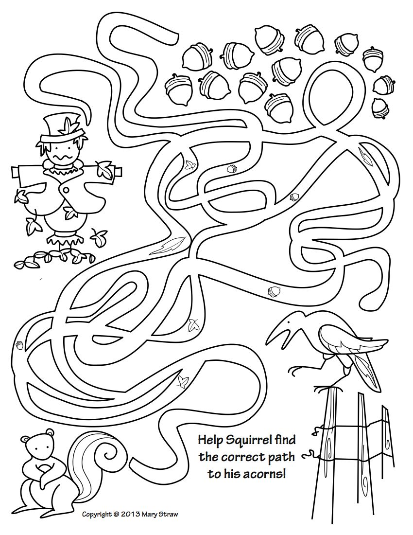 Fall Activity Coloring Pages | Picture letters, Activities and Sentences