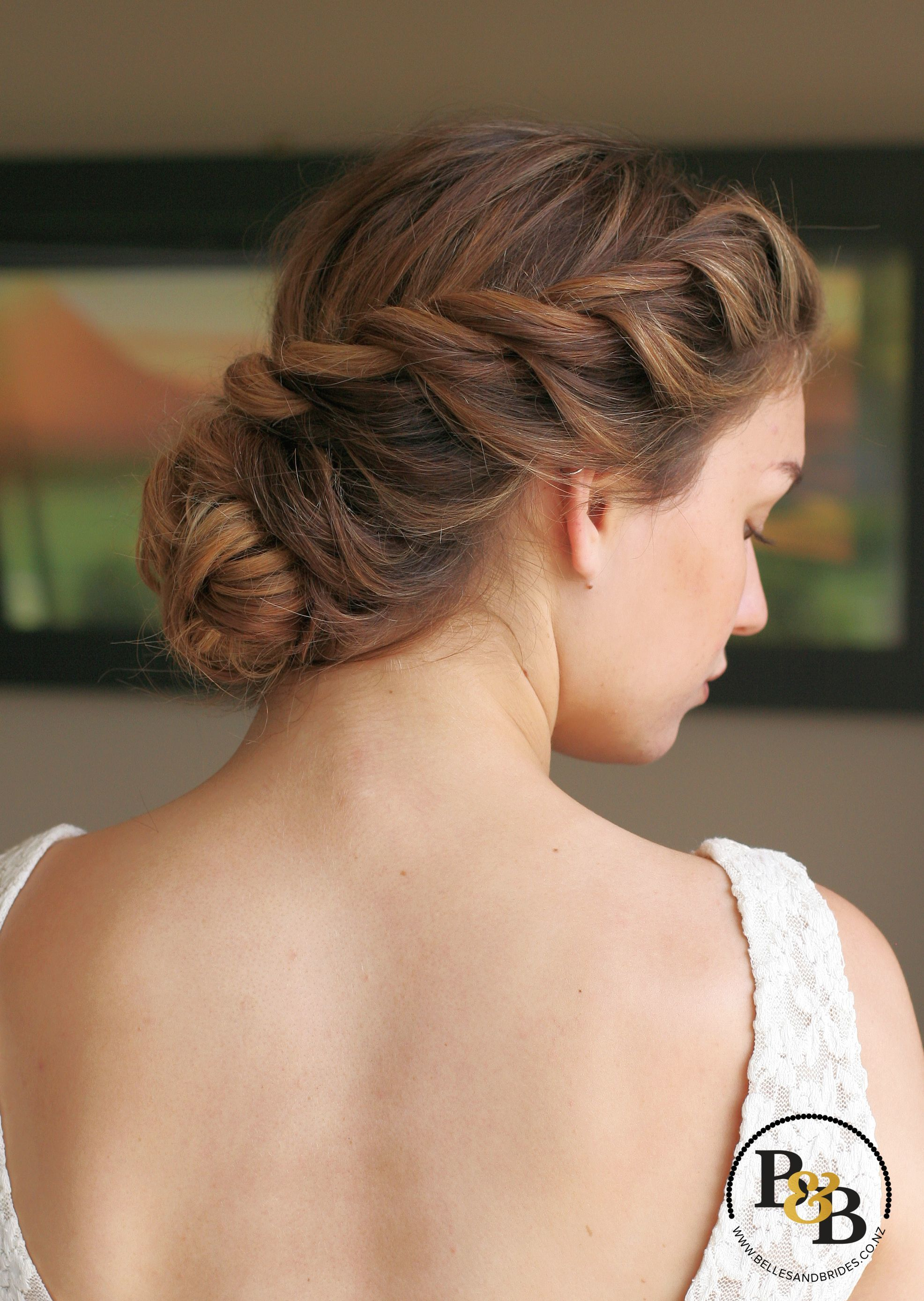 Wedding Hair With Soft Twist Modern Braid Bridal Hair Hair Up