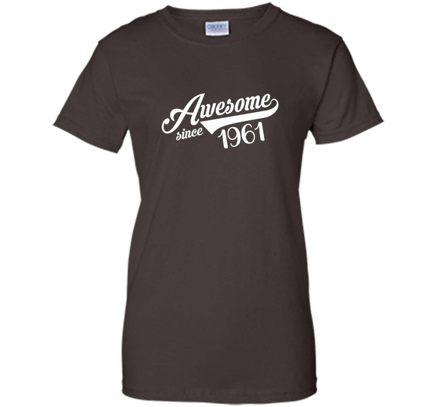 Awesome Since 1961 T Shirt Birthday Gift 56 Years Old Monkey T