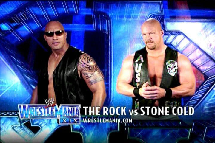 The Rock Vs Stone Cold Part 3 Wrestlemania 19 Stone Cold Steve The Rock Dwayne Johnson The Rock