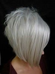 Image result for medium length hairstyles with bangs and lots of layers in platinum blonde with brown lowlights