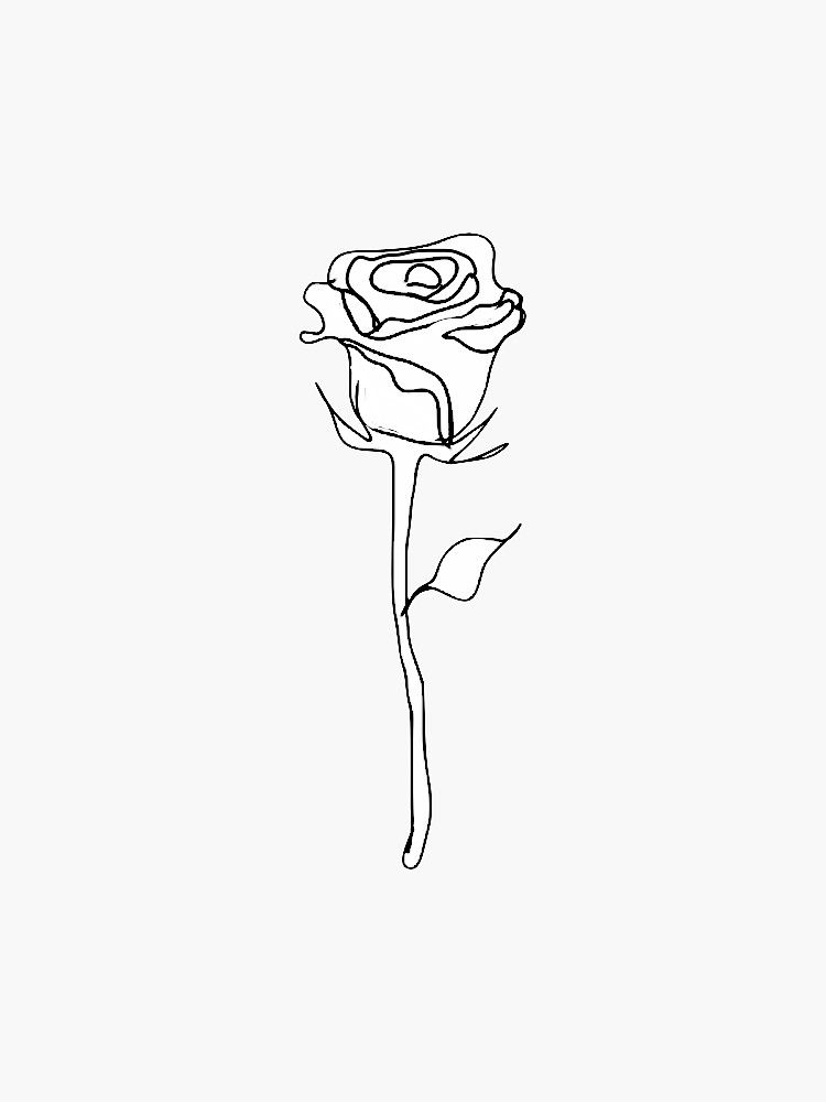 Pin By Synie Rae On Line Art Drawings In 2020 Rose Outline Rose Outline Drawing Embroidered Canvas Art
