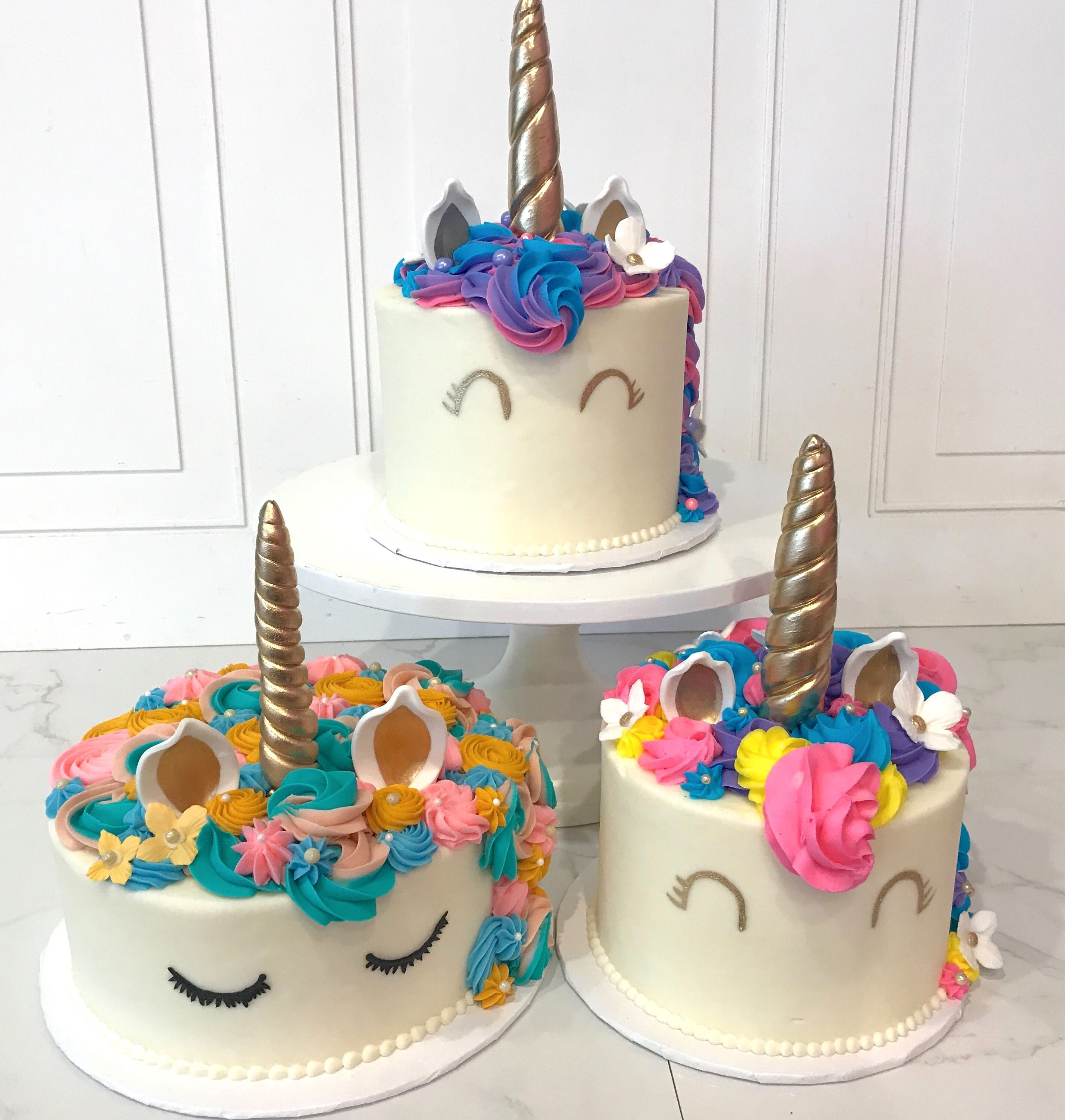Unicorn Cakes by 3 Sweet Girls Cakery | Our Cakes | Pinterest ...
