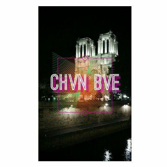 CHVN BVE logo #1 Paris Notre-Dame de Paris Quasimodo Esmeralda Phoebus Cathedral church night design instagram