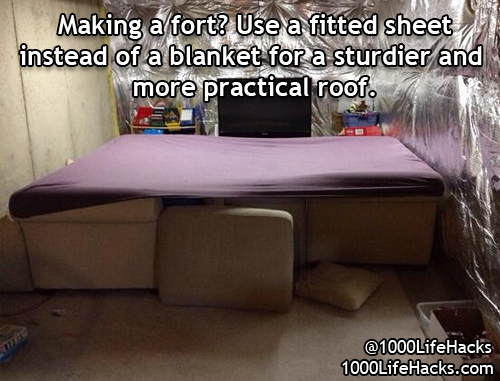 how to build a couch fort