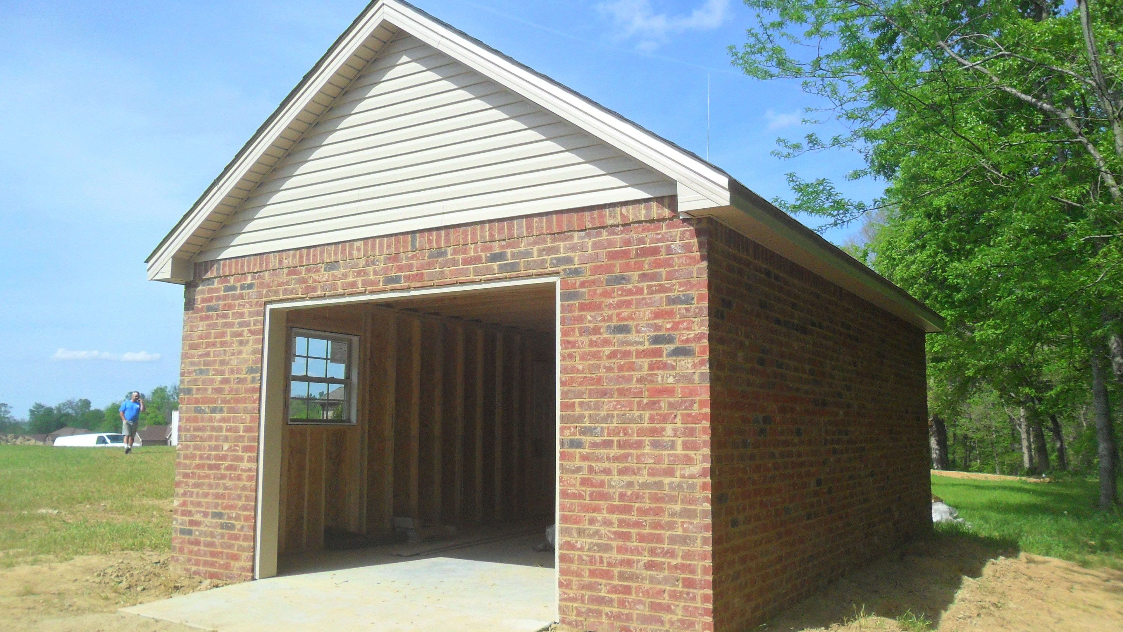 brick garage designs