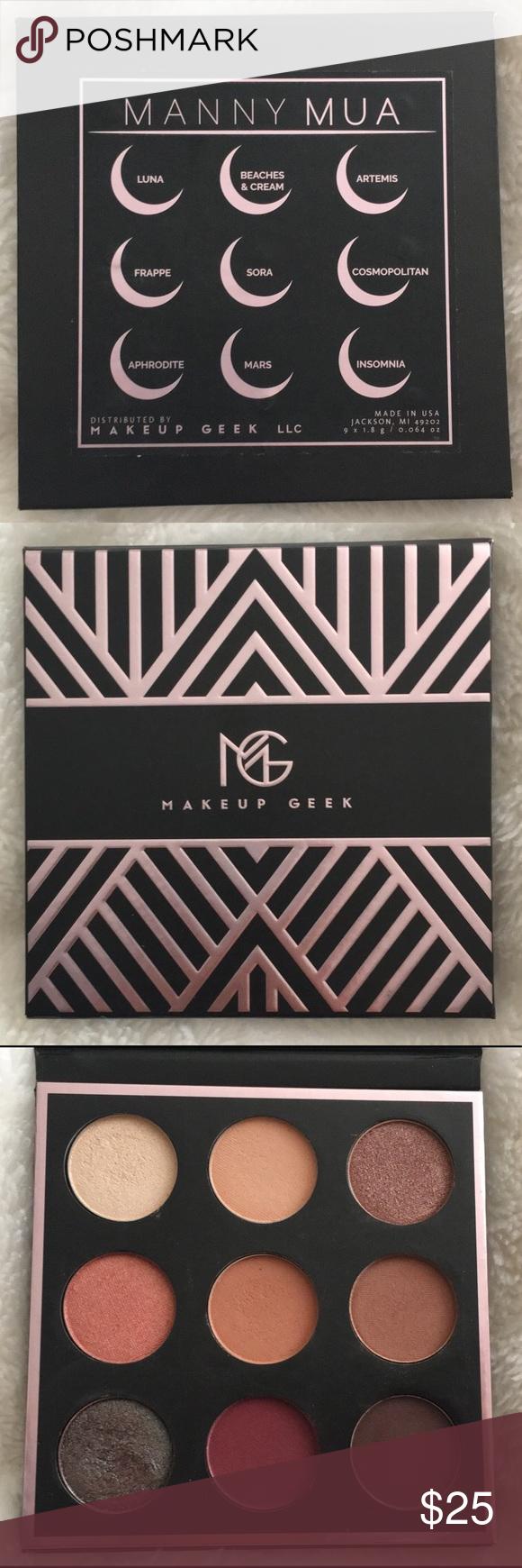 Manny MUA x Makeup Geek Eyeshadow Palette Makeup geek