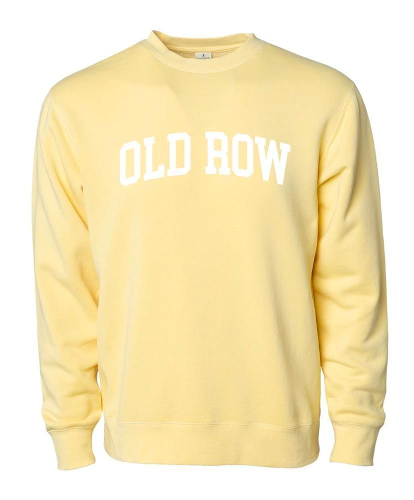 Old Row Pigment Dyed Crewneck Sweatshirt Yellow Medium Old Row Sweatshirts Crew Neck Sweatshirt [ 1000 x 829 Pixel ]
