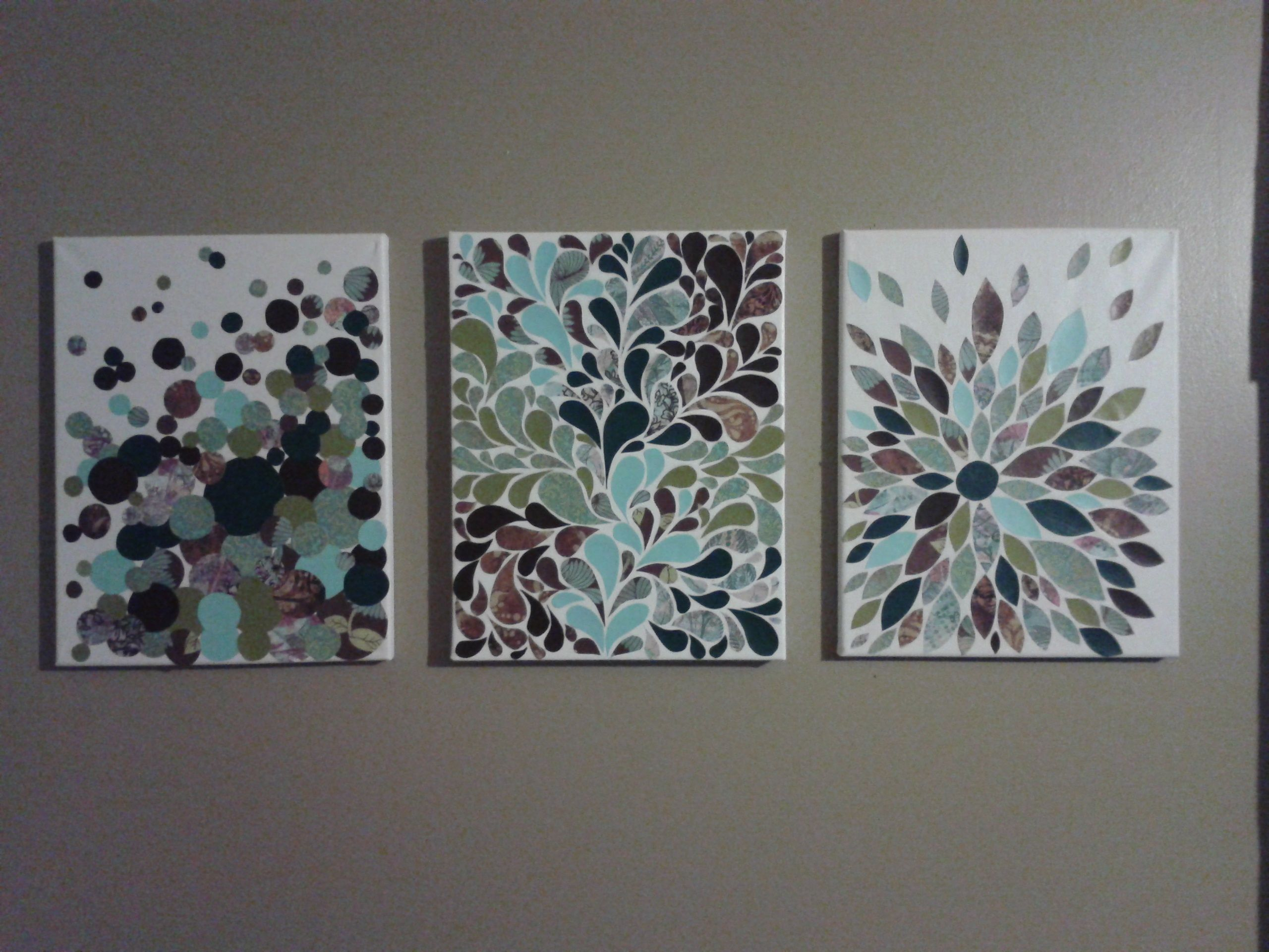 Scrapbook paper art ideas - My Scrapbook Paper And Canvas Art