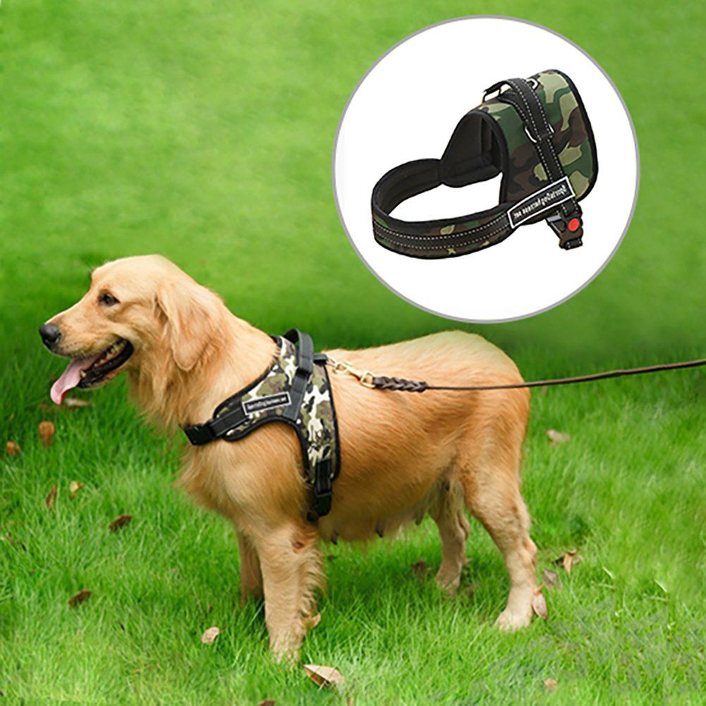 Ipetson Mush Dog Harness No Pull Pet Harnesses Adjustable Easy