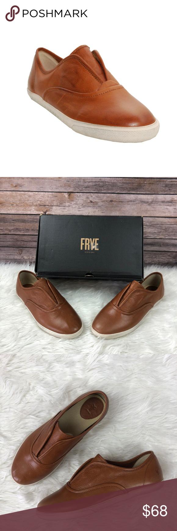 Frye Mindy Leather Slip On Sneaker Whiskey Brown Frye Slip On Sneaker Leather Slip Ons