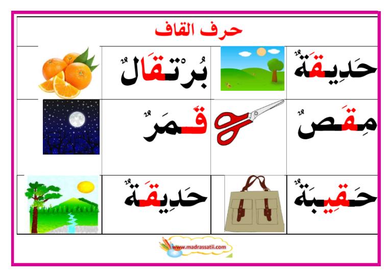 معلقات حروف و كلمات 2 موقع مدرستي Arabic Kids Arabic Alphabet Arabic Alphabet Letters