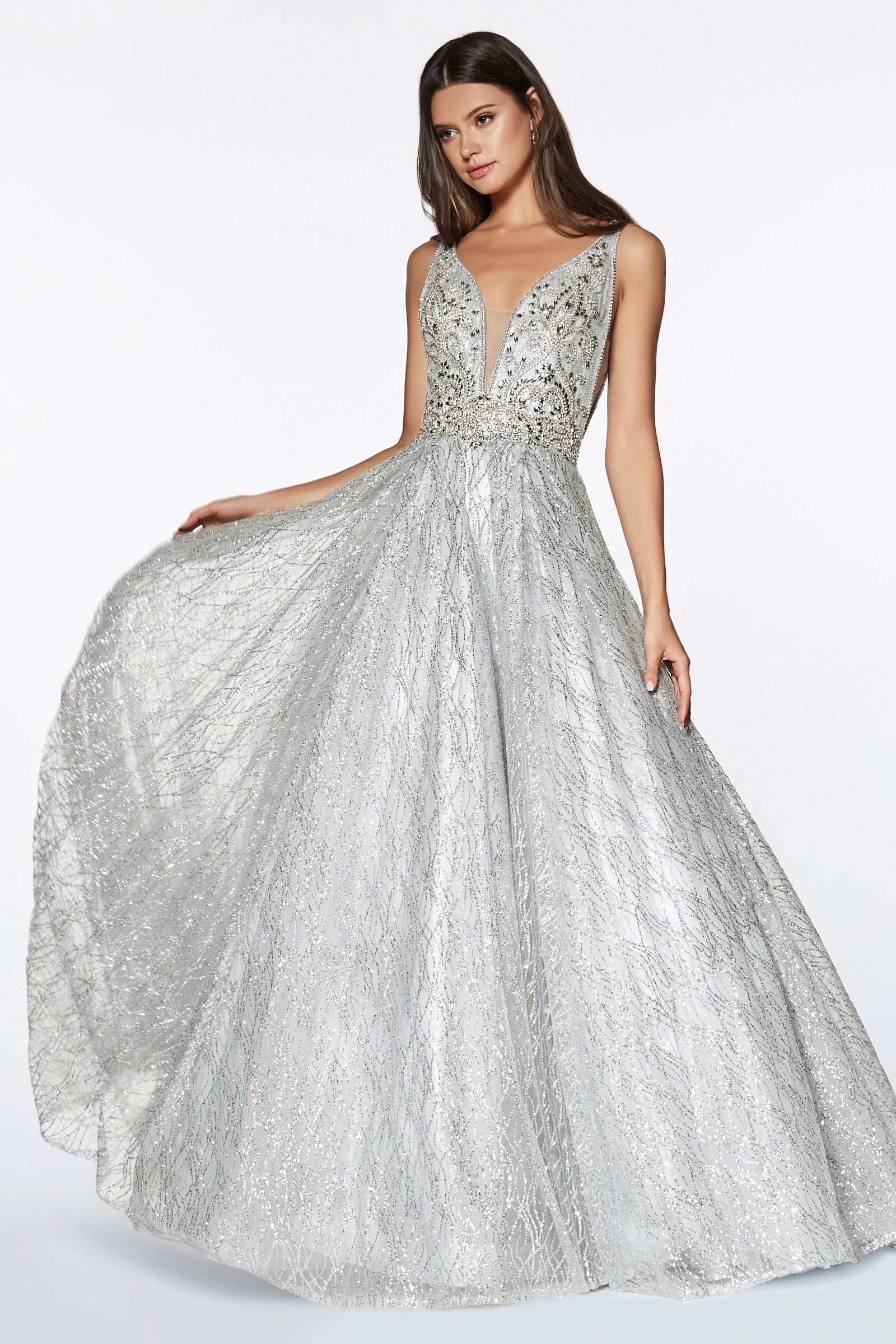 Cinderella Divine CR836 Evening Dress Prom Dress Glitter ball gown with beaded