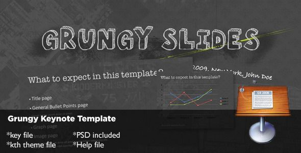 Grungy keynote template keynote template and font logo grungy keynote template cool powerpoint toneelgroepblik Images