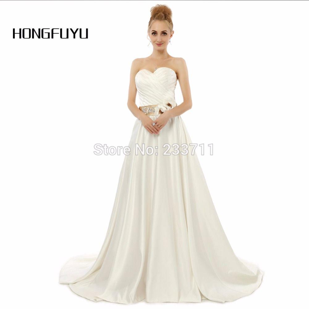 Free shipping buy best hongfuyu sweetheart a line satin sashes