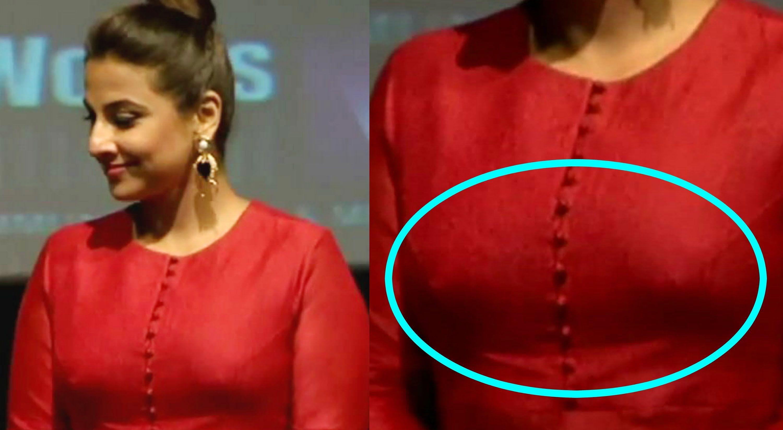 balan nipple Vidya hot
