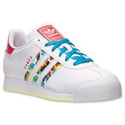 le scarpe adidas samoa occasionale traguardo correndo bianco