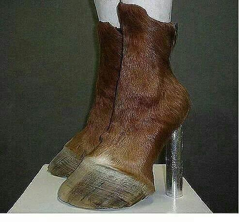 Horse Boots..   new meaning to horse lover ... they really sell these