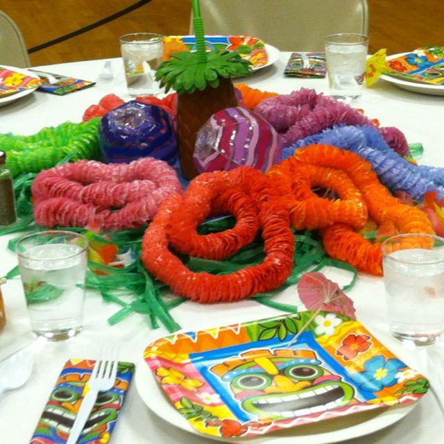 Pin By Amy Derouen Nelson On Fun Fun Fun Luau Centerpieces Hawaii Themed Party Luau Decorations
