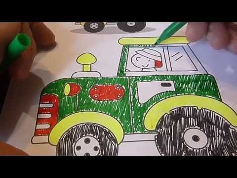 Раскраска Грузовые Машины учимся рисовать учим цвета ...