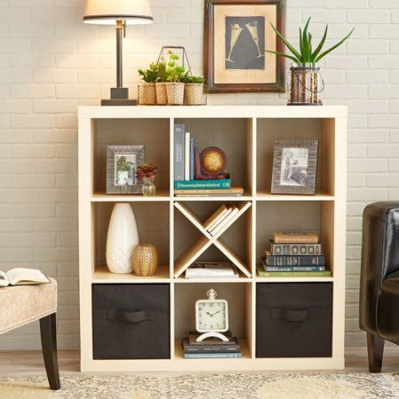 Square 4 Cube Home Cubicle Cubeical Cubby Storage Display Organizer Unit Cube Storage Decor Cube Storage Shelves Cube Storage