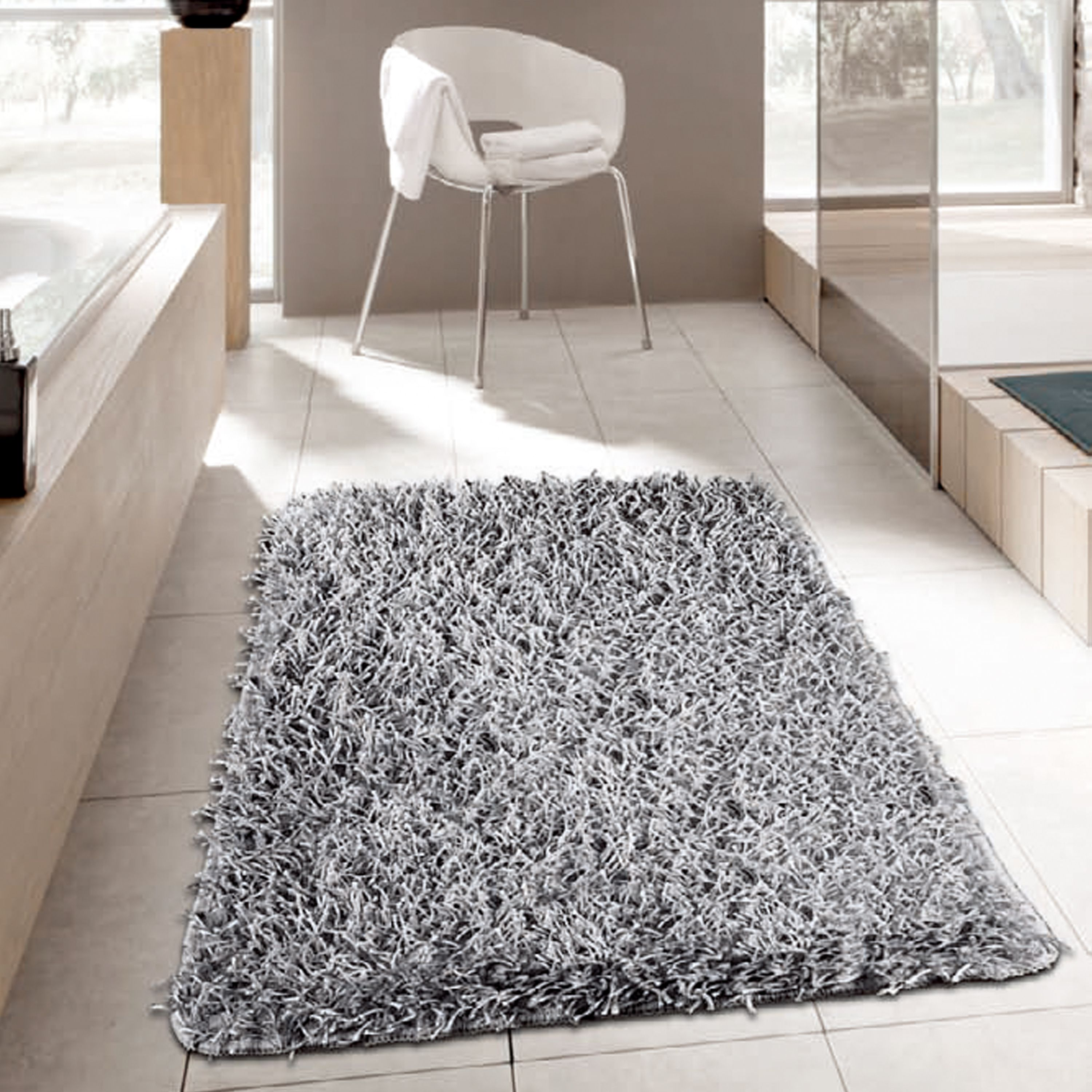 Contemporary Silver Bathroom Featuring A Selection Of Our Bath Towel And Rug We Have