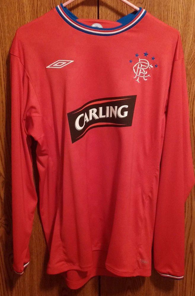 20e9c14f793 Umbro Glasgow Rangers FC Football Club Long Sleeve Jersey Carling Official  Large  umbro  RangersFC