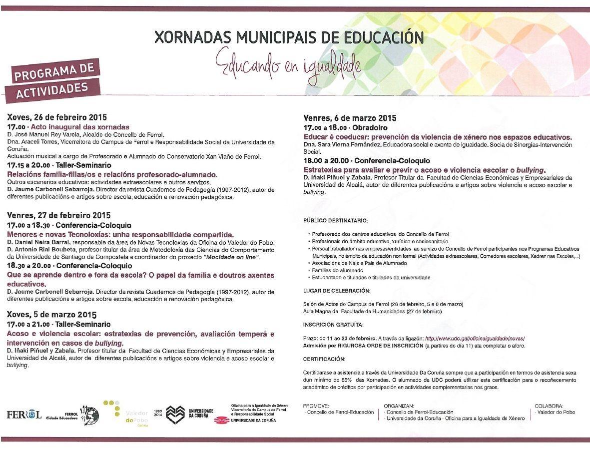 Jornadas Educando en Igualdad
