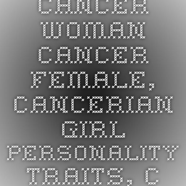 Cancer personality profile female