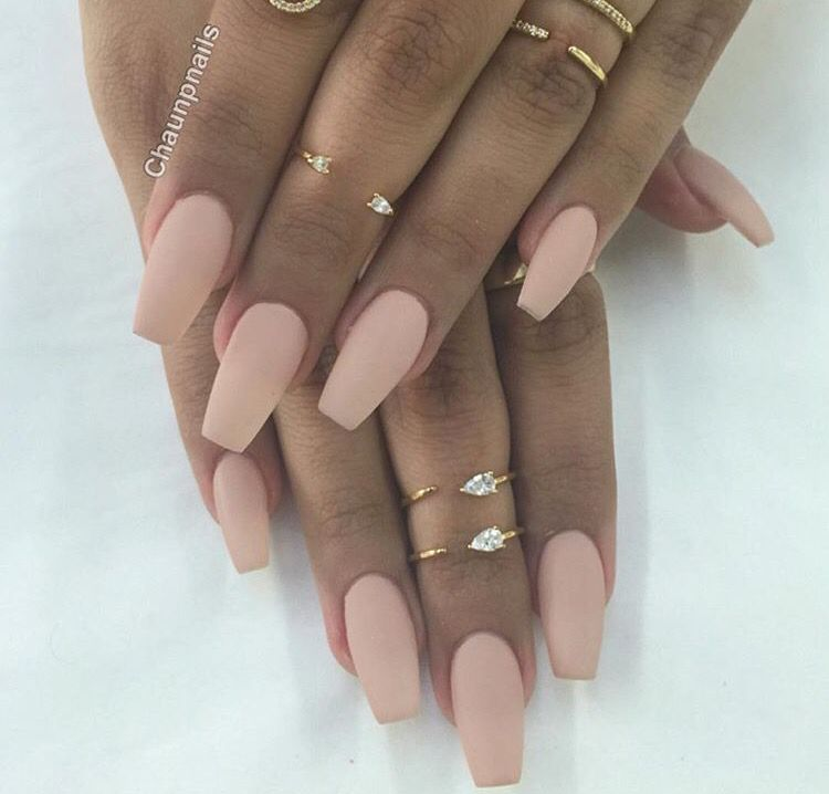 Pink nude matte - love it! | Nails | Pinterest | Nude, Nail nail and ...