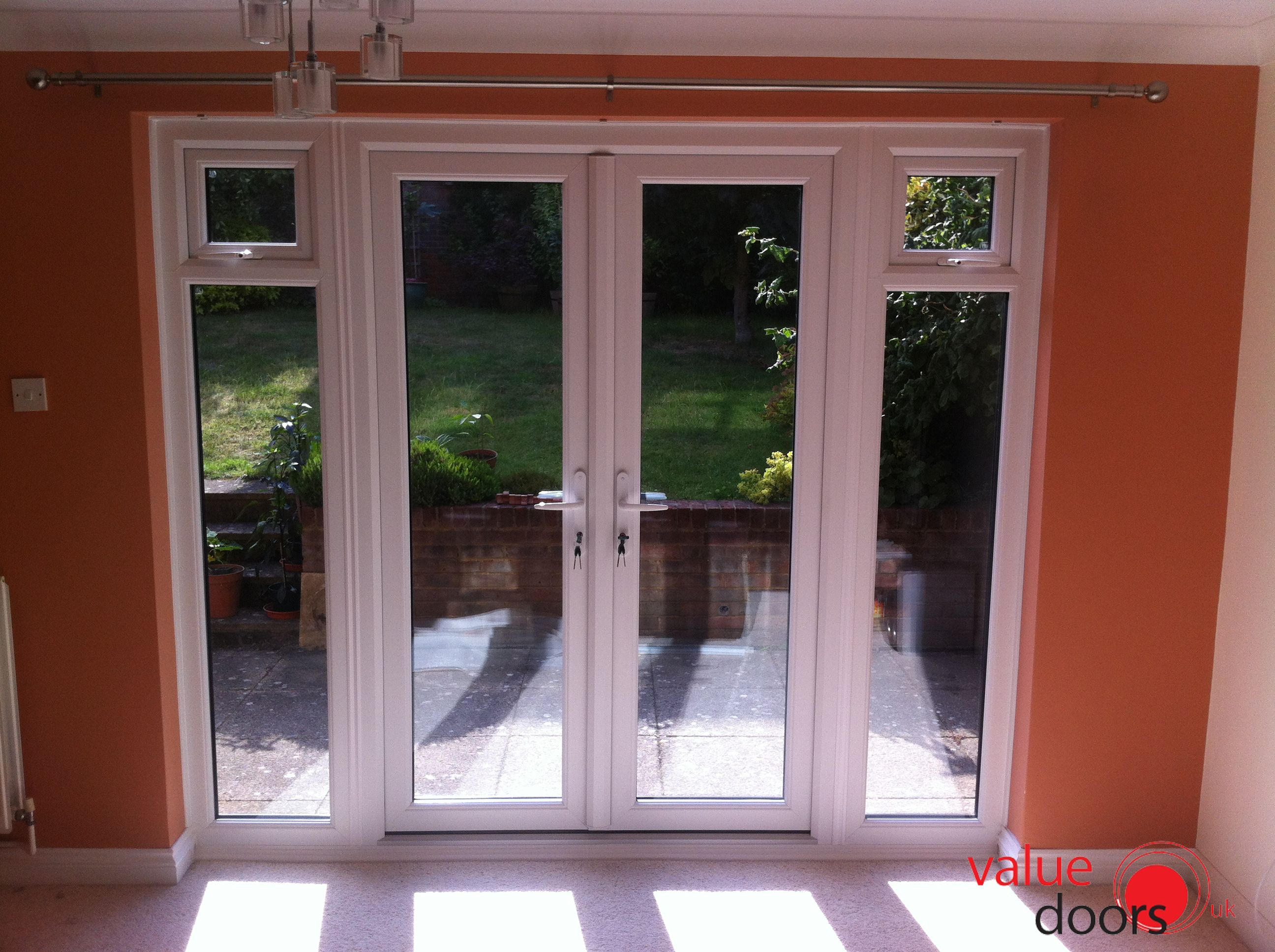 Wickes upvc french doors 8ft with 2 side panels 600mm upvc wickes upvc french doors 8ft with 2 side panels 600mm upvc french doors doors and extensions rubansaba