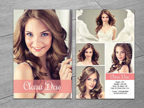 Modeling Comp Card Template 5 5x8 5 Model Card Photoshop And Elements Template Instant Download Model Comp Card Card Templates Free Card Template