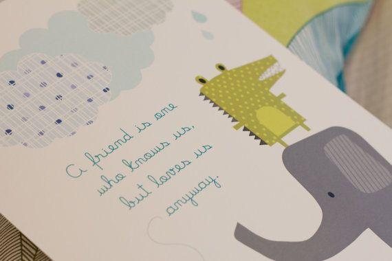 Mini Poster illustrazione per Bambini di NachoFish su Etsy, €5.00 Find NachoFish on Facebook