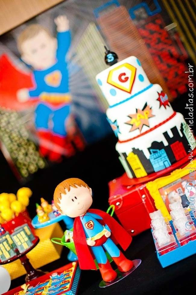 Boys Superhero Birthday Party Ideas